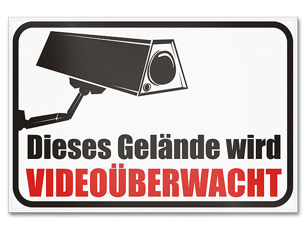 Hinweisschild Video