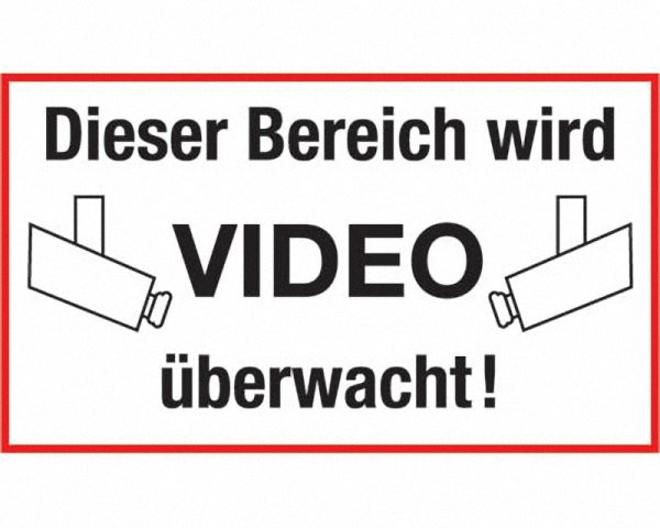 Hinweisschild Video2